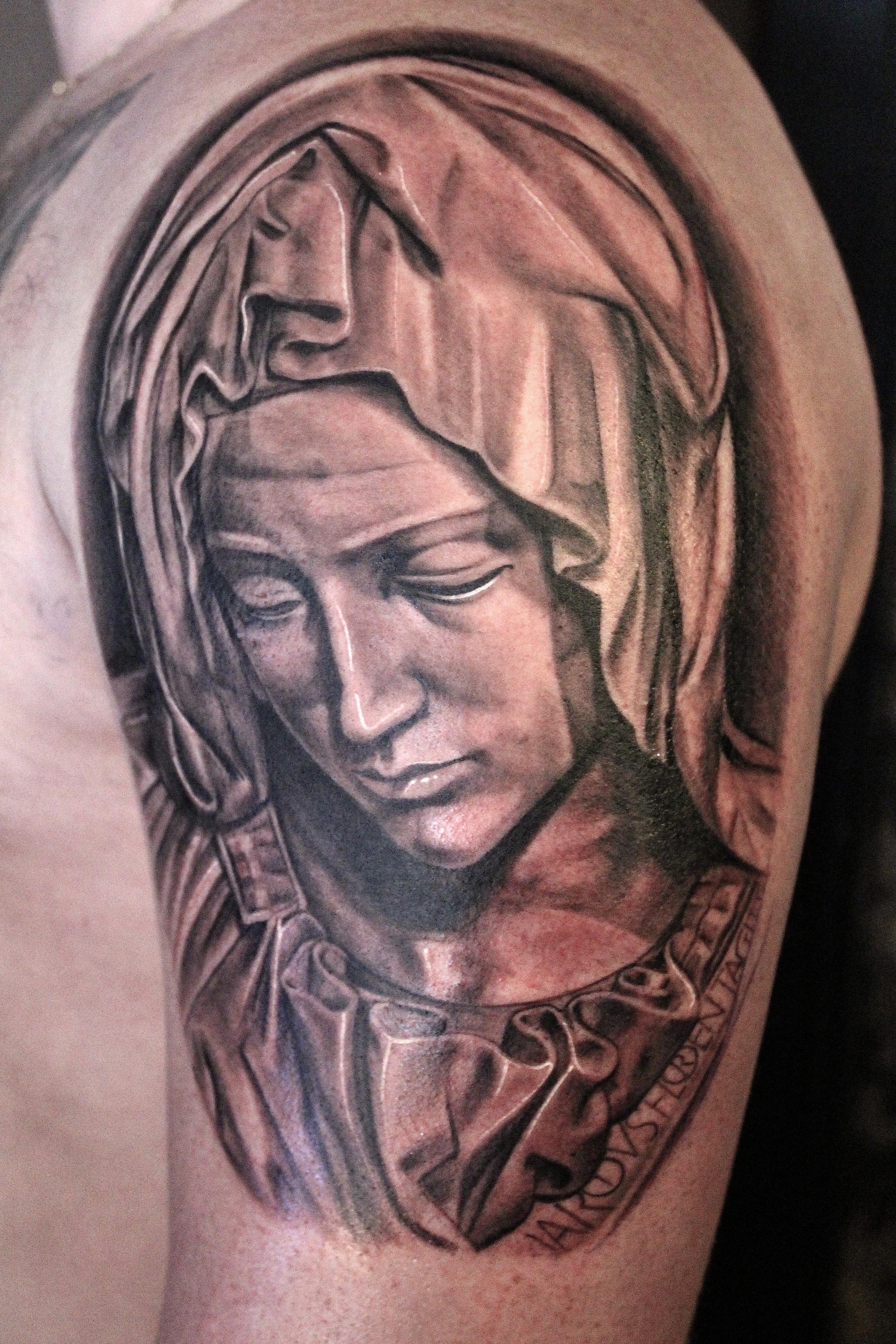 Electrographic tattoo rosenheim,Maria,pieta