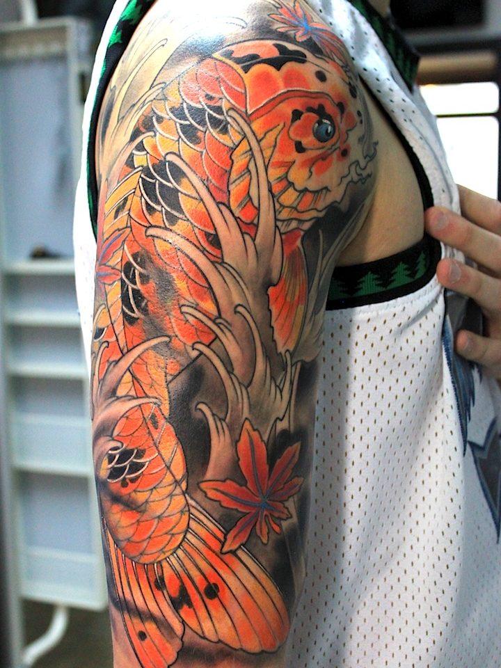 electrographic, tattoo, rosenheim, kufstein, Japanise koi tattoo