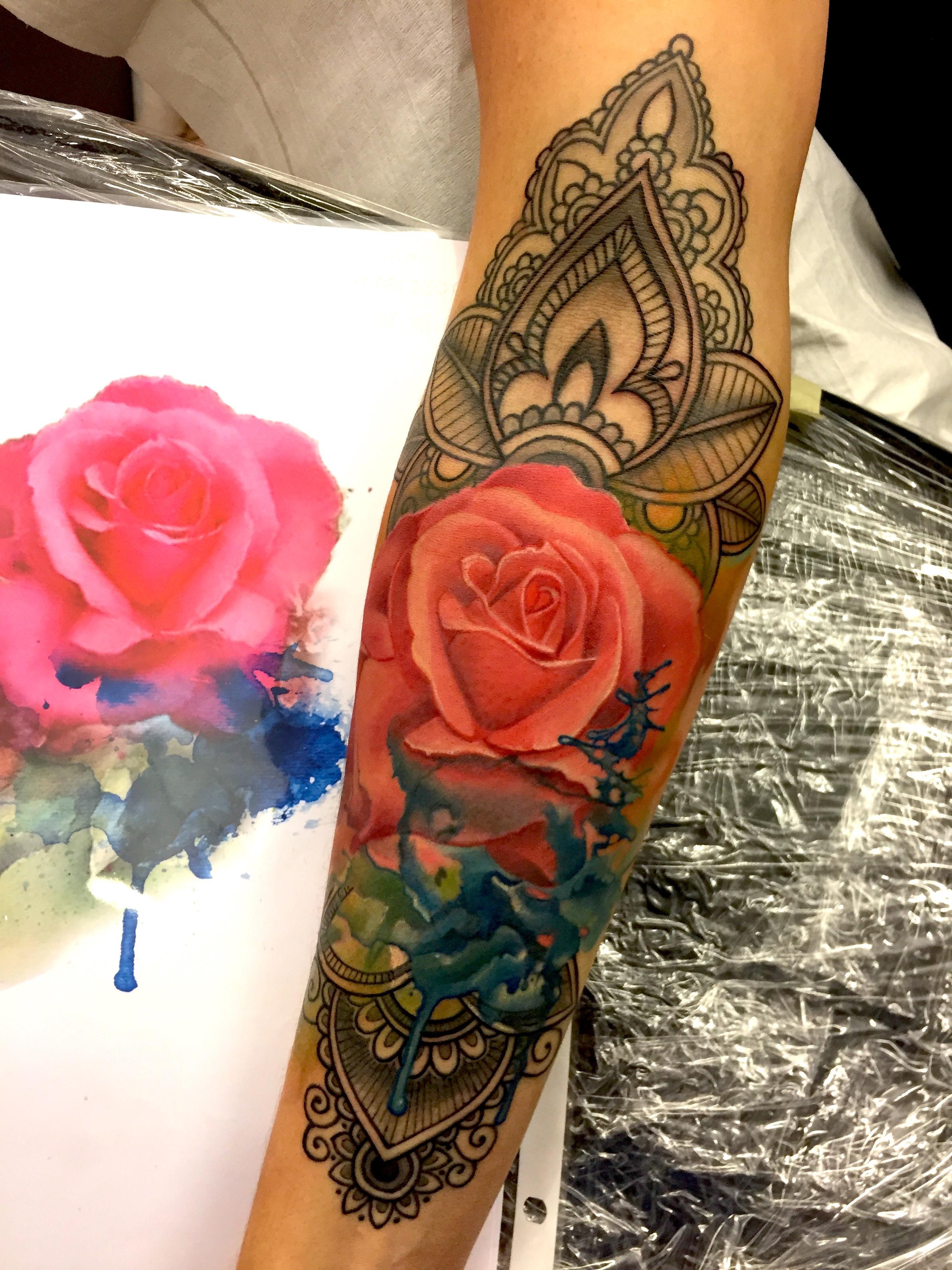 mandala, henna, electrographic tattoo, germany, bayern, rosenheim, münchen , salzburg , innsbruck, vogel, rose, tattoo, tattoo art, color, realistic