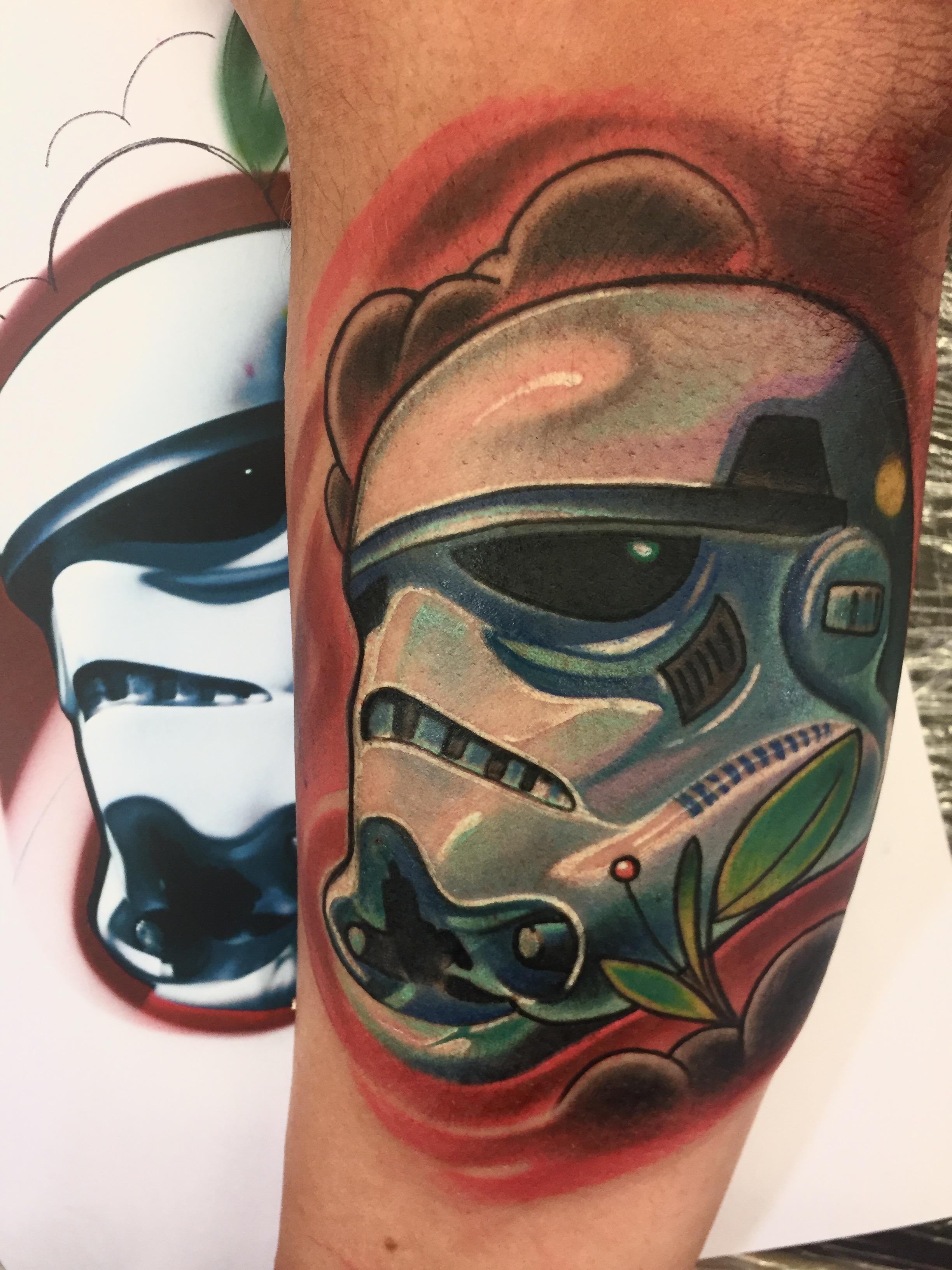 storm , trooper, star wars, new school, elec trographic tattoo,germany, bayern, rosenheim, münchen , salzburg , innsbruck, vogel, rose, tattoo, tattoo art, color, realistic